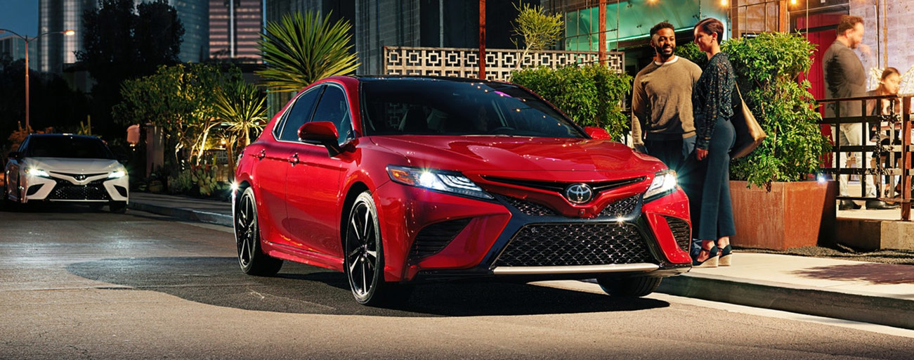 Front view of Toyota Camry