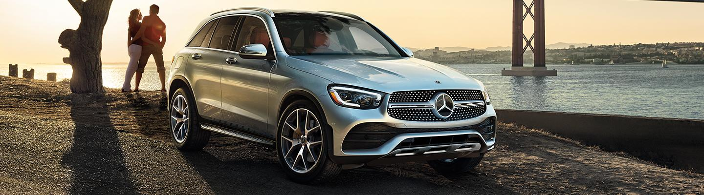 2020 Mercedes-Benz GLC parked under a bridge