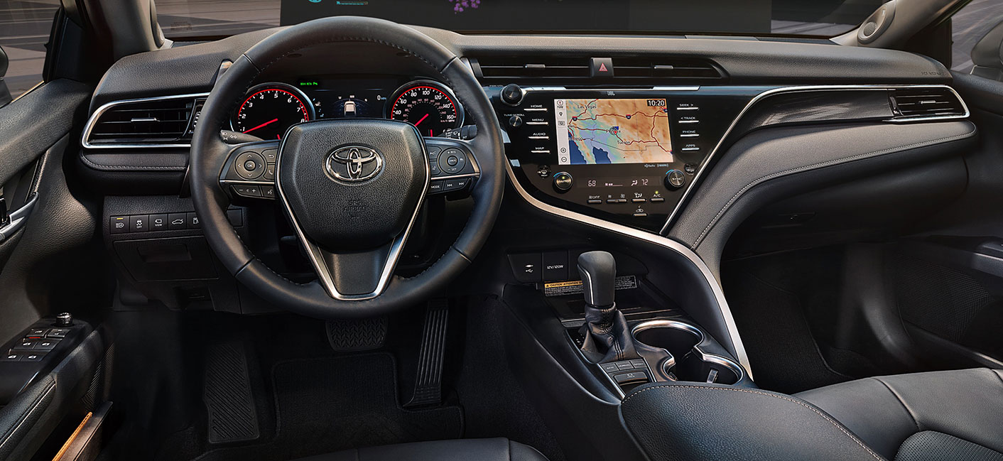 Safety features and interior of the 2019 Toyota Camry - available at our Toyota dealership near York, SC