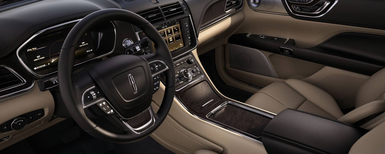 Safety features and interior of the 2019 Lincoln Continental - available at our Lincoln dealership near Scranton, PA.