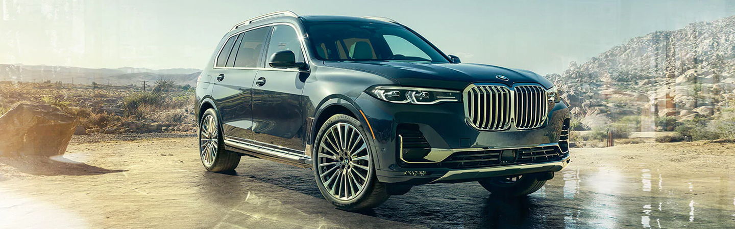 2020 BMW X7 parked by a field