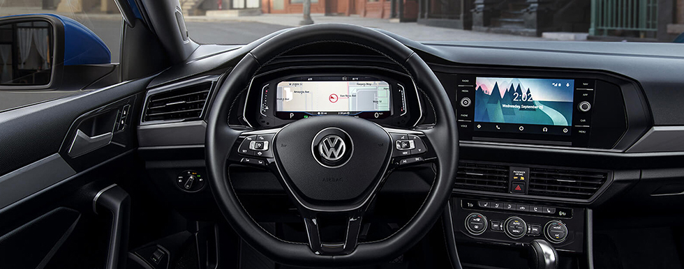 Safety features and interior of the 2019 Volkswagen Jetta - available at our Volkswagen dealership near Gainesville, FL.