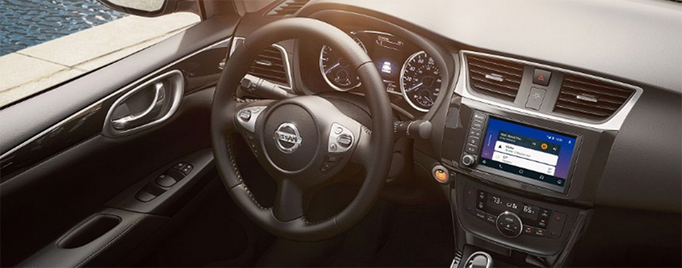 Safety features and interior of the 2019 Nissan Sentra - available at our Nissan dealership in Flagstaff.