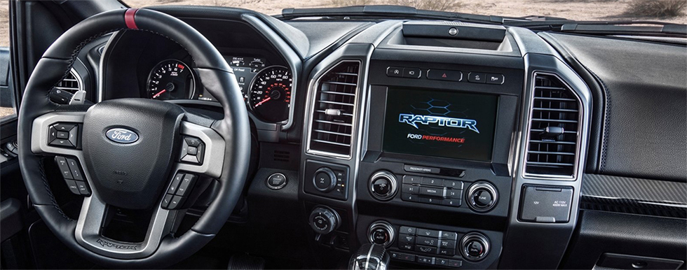 Safety features and interior of the 2019 Ford Raptor - available at our Ford dealership in