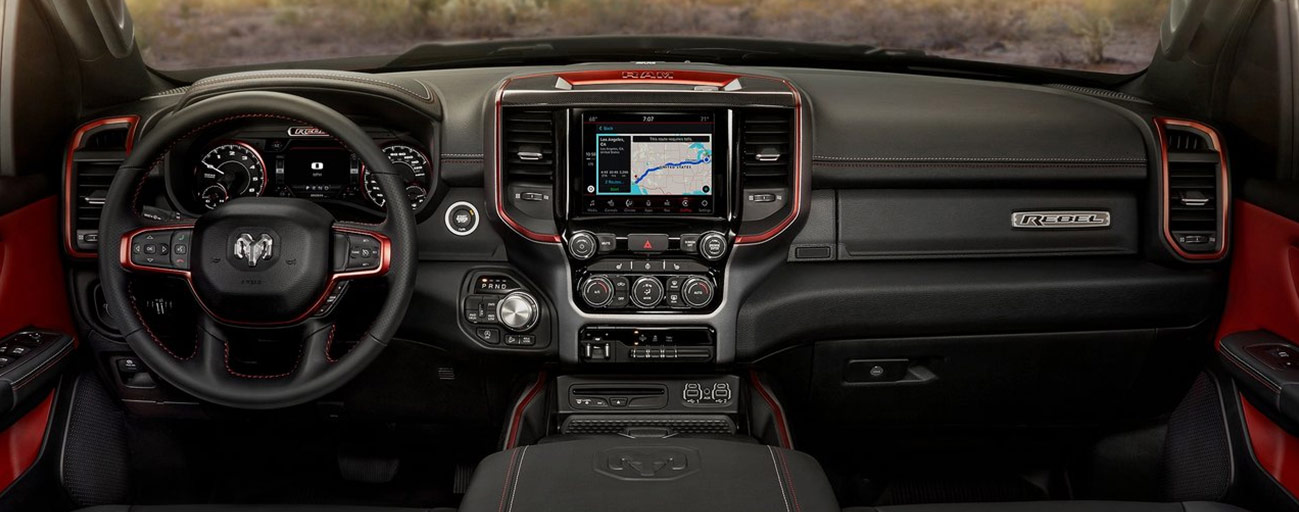 Safety features and interior of the 2019 RAM 1500 - available at our RAM dealership near Chattanooga, TN.