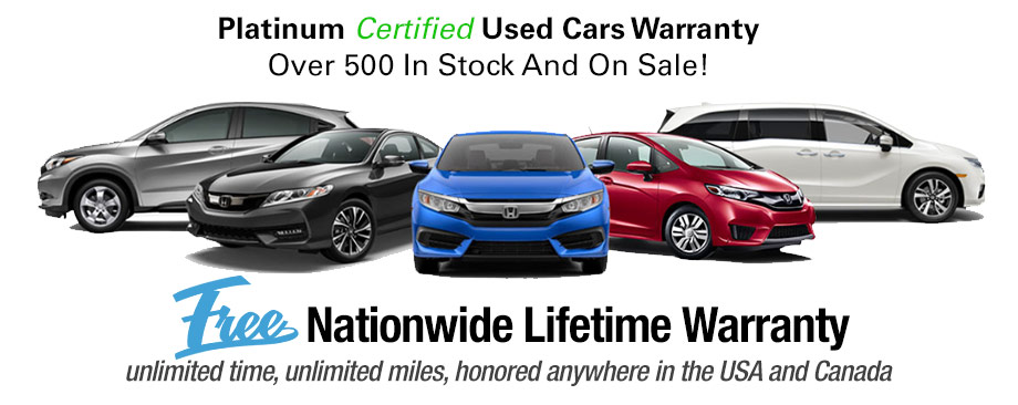 Platinum Used Cars >> Lifetime Warranty On Used Cars Honda Of Ocala