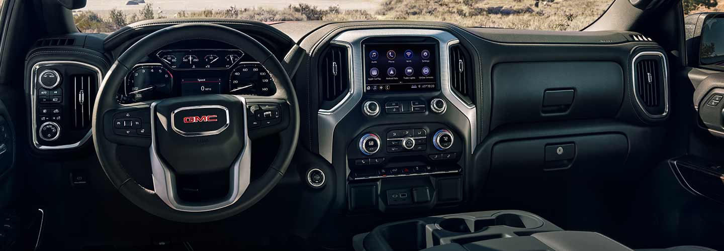 Inside the 2020 GMC Sierra 1500 driver side seat