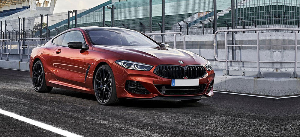 2019 BMW 8 Series Exterior – Parked on the racetrack.