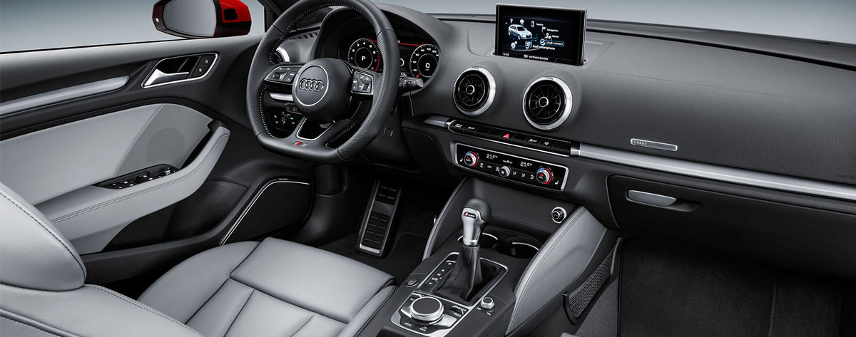 Safety features and interior of the 2018 Audi A3 - available at our Audi dealership in Honolulu.