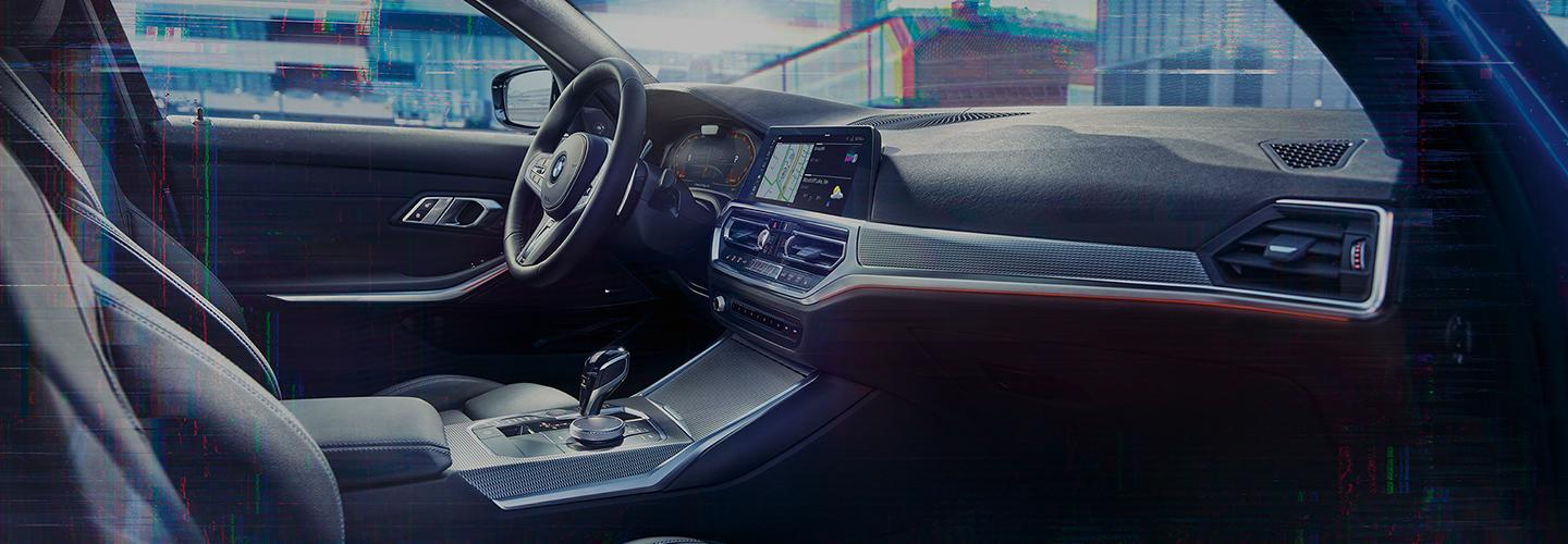Interior of the 2020 BMW 3 Series
