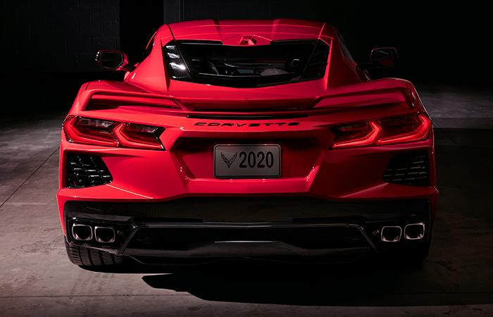Exterior image of the 2020 Chevy Corvette available at Spitzer Chevy Amherst