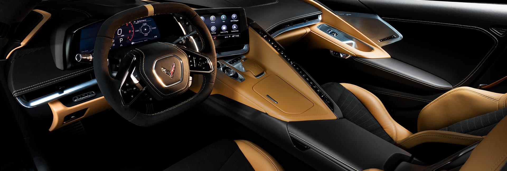 Interior image of the 2020 Chevy Corvette available at Spitzer Chevy Amherst Ohio