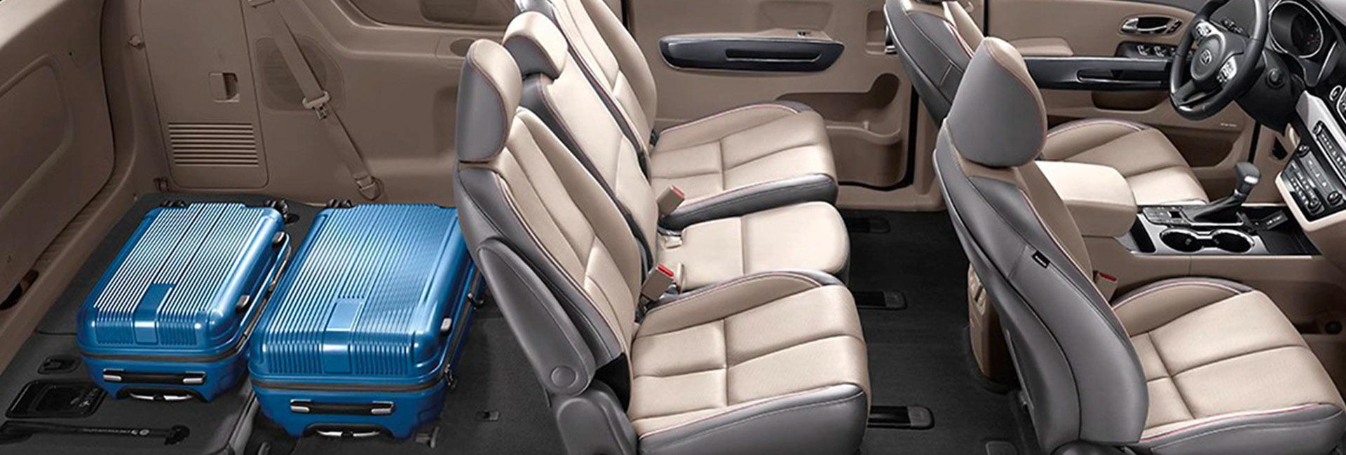 Picture of the interior of the 2020 Kia Sedona