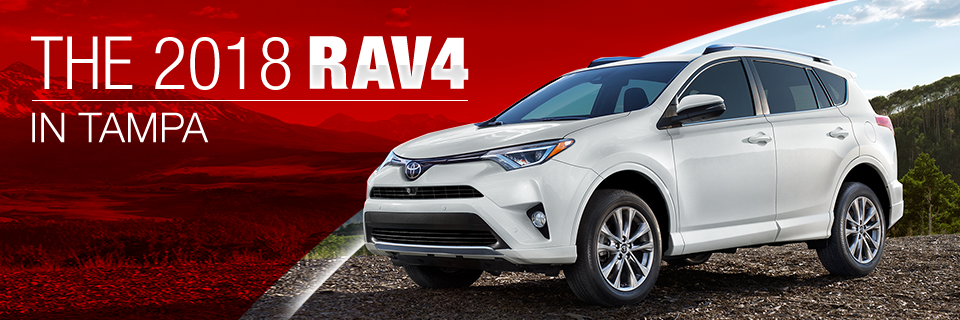 The 2018 RAV4 is available at Toyota of Tampa Bay near Brandon, FL