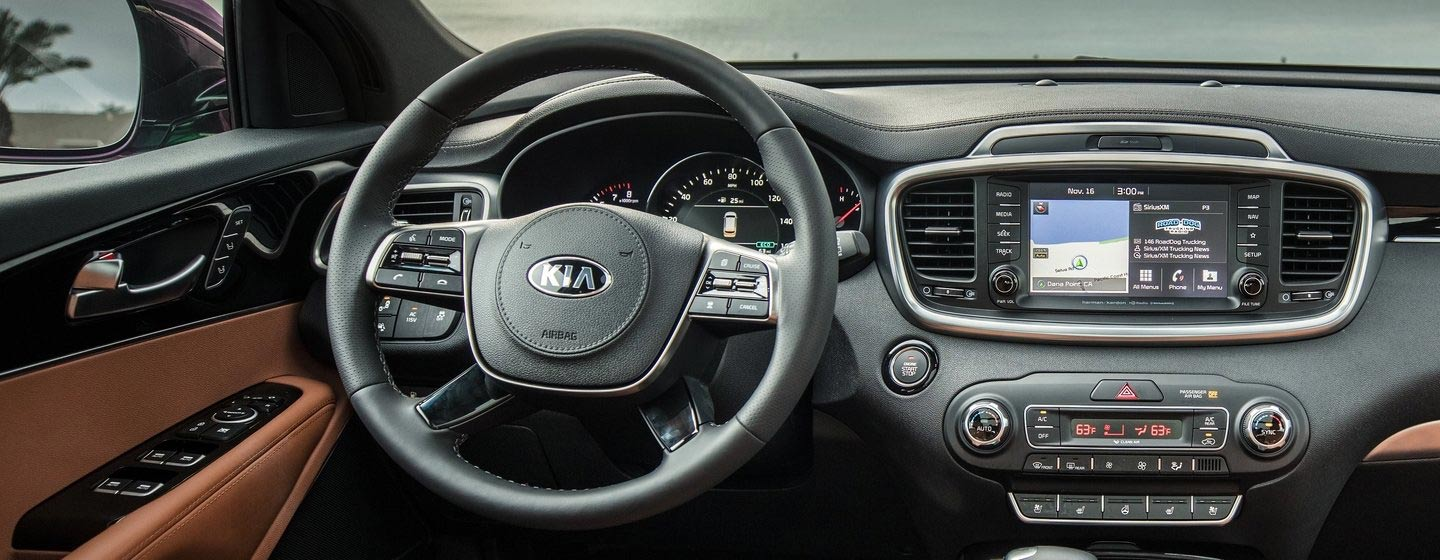 Safety features and interior of the 2019 Kia Sorento - available at our Kia dealership near Columbus, OH