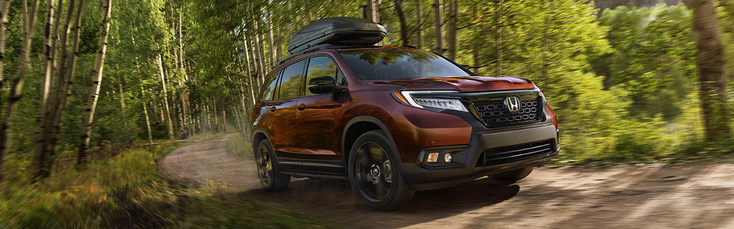 Exterior of the 2019 Honda Passport available at our Honda dealership in Miami, FL
