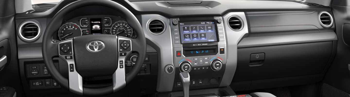 Interior of the 2020 Toyota Tundra