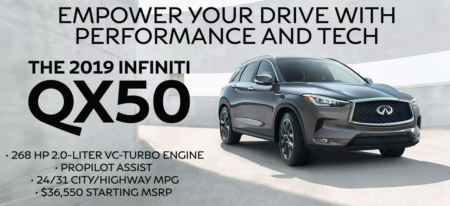 2019 INFINITI QX50 PERFORMANCE DRIVER ASSISTANCE TECHNOLOGY ALL-WHEEL DRIVE