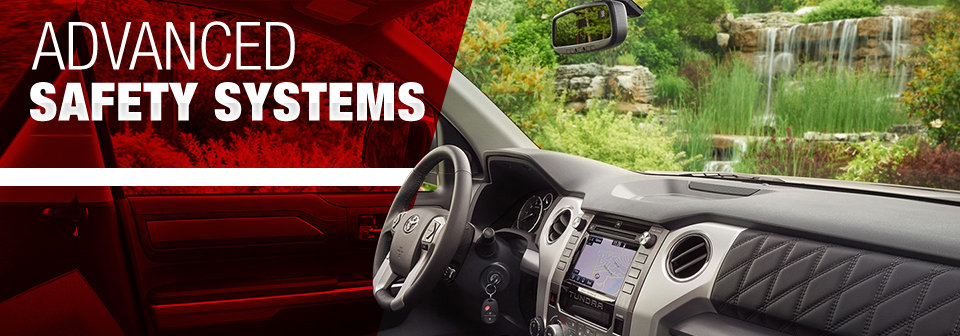 Safety features and interior of the 2018 Tundra - available at Toyota of Tampa Bay near Brandon and Wesley Chapel, FL