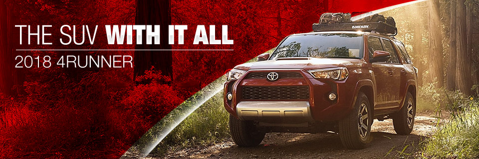 The 2018 Toyota 4Runner is available at Toyota of Tampa Bay near Brandon