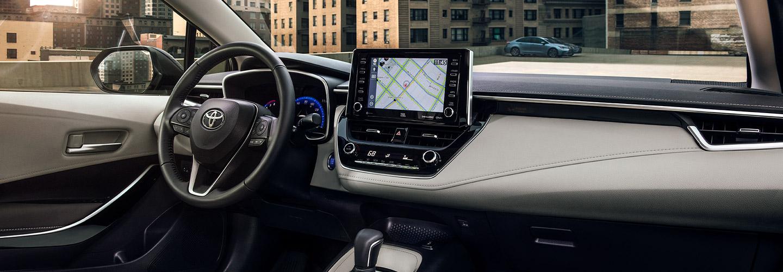 Interior of the 2020 Toyota Corolla Hybrid