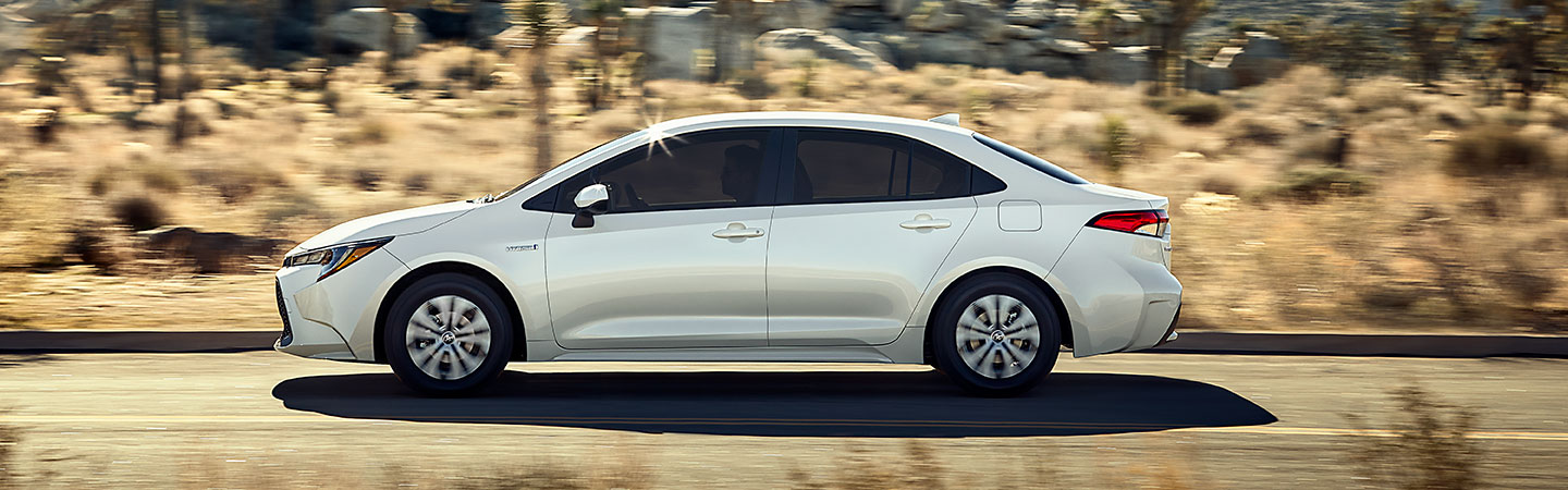 2020 Toyota Corolla Hybrid driving on the road