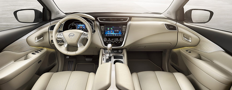 Safety features and interior of the 2019 Nissan Murano - available at our Nissan dealership near Oklahoma City, OK.