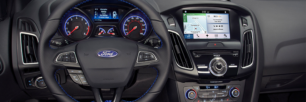 Safety features and interior of the 2018 Ford Focus - available at Al Packer's White Marsh Ford near Baltimore, MD