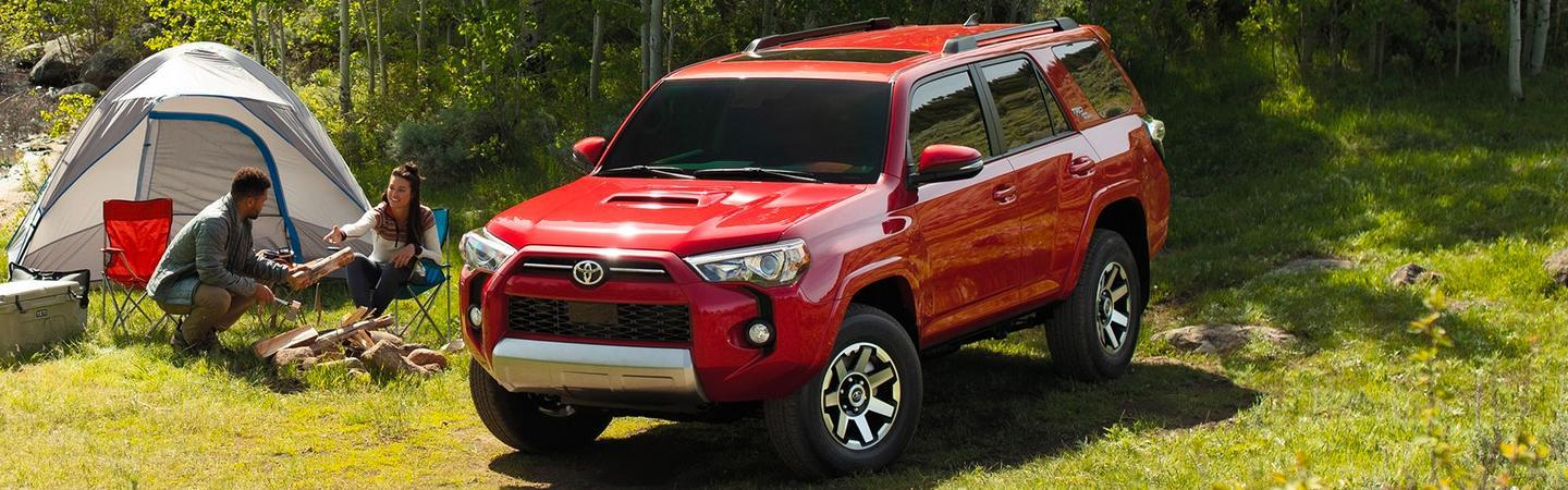 2020 Toyota 4Runner parked in the grass