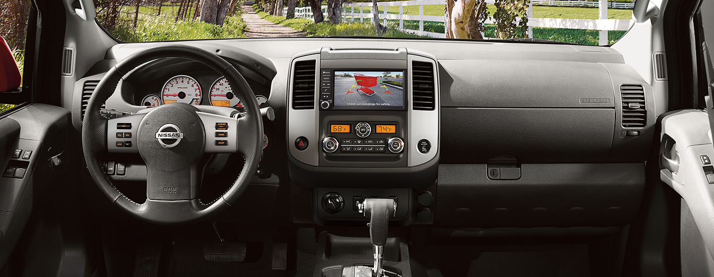 Safety features and interior of the 2019 Nissan Frontier - available at our Nissan dealership near Oklahoma City, OK.