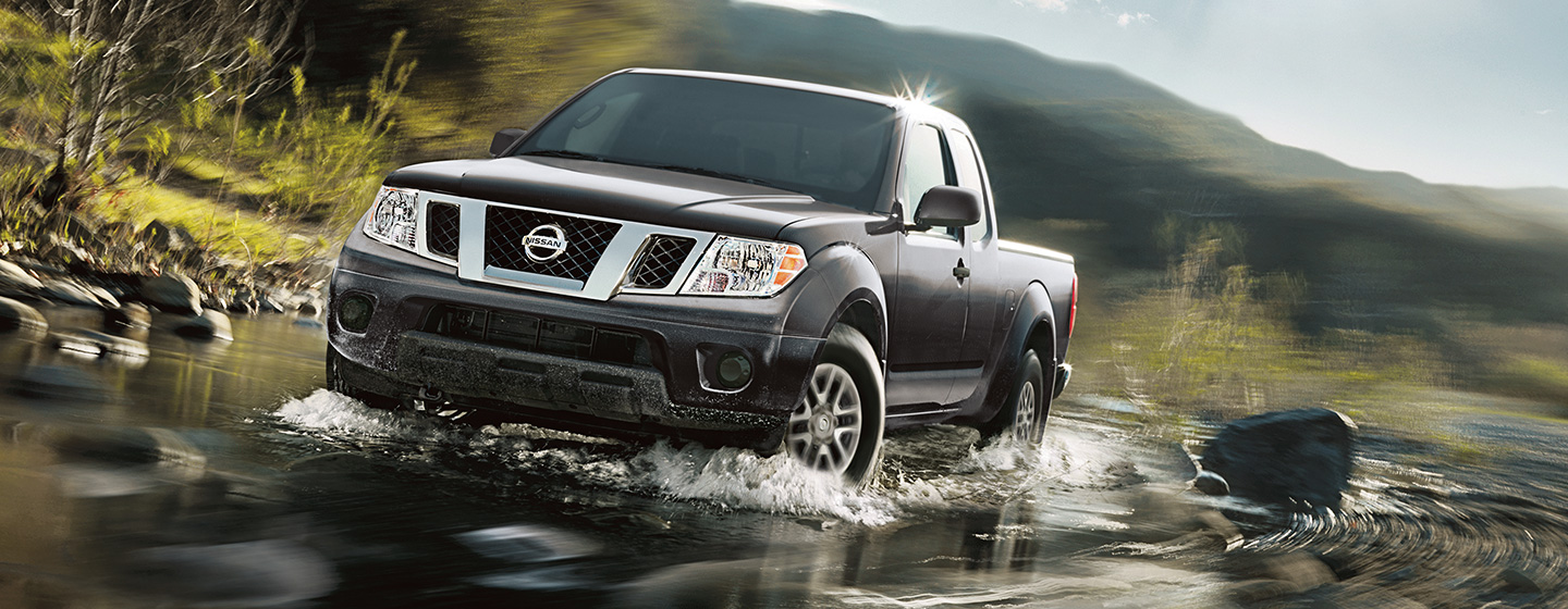 2019 Nissan Frontier driving through water