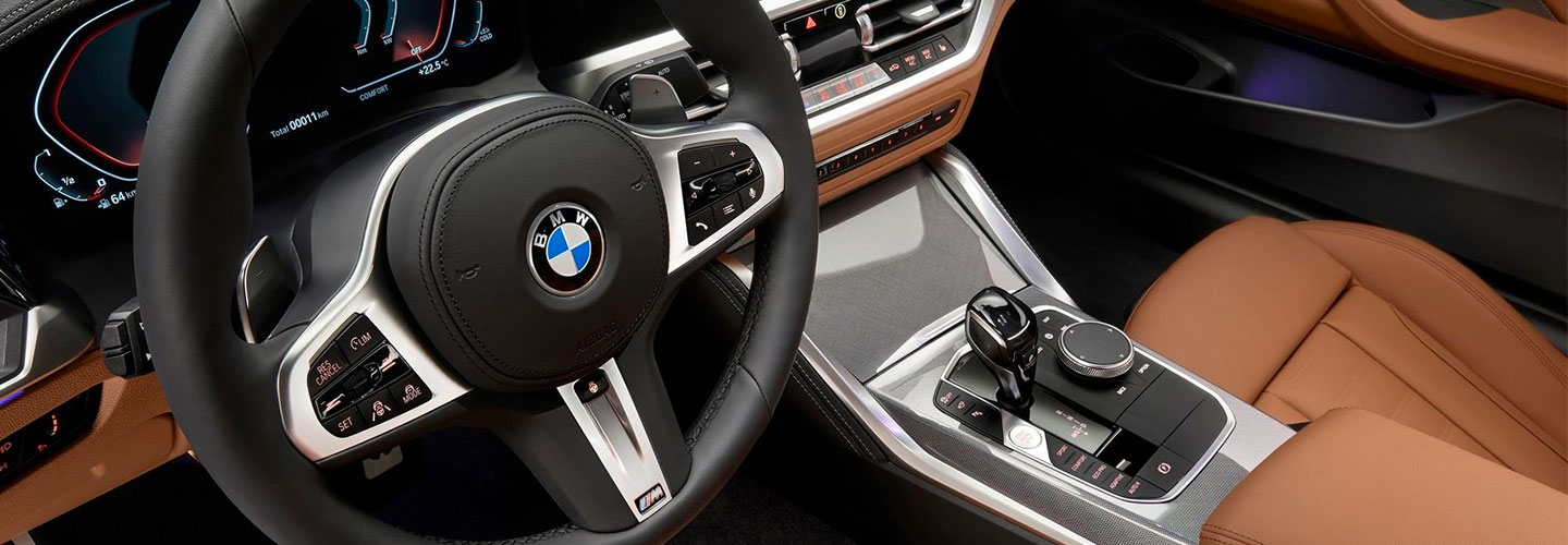 Interior of 2021 BMW 4 Series Coupe