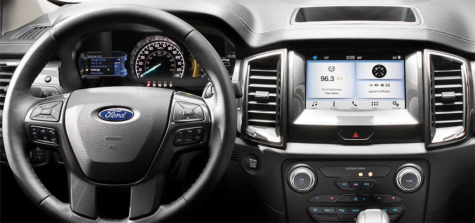Safety features and interior of the 2019 Ford Ranger - available at our Ford dealership in Baltimore.