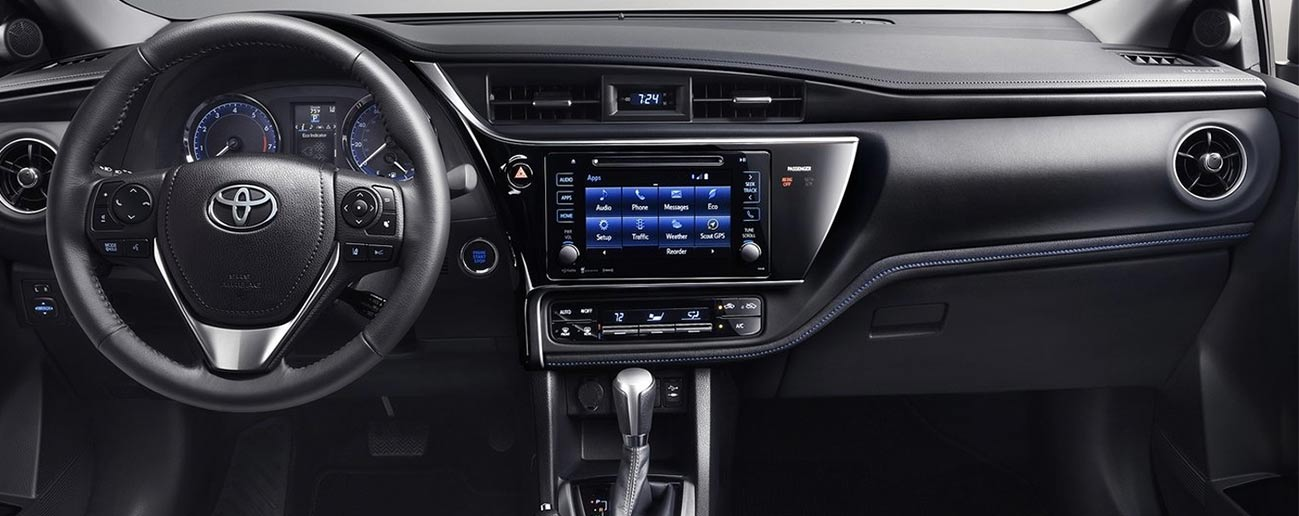 Safety features and interior of the 2019 Toyota Corolla - available at our Toyota dealership in Rock Hill, SC.