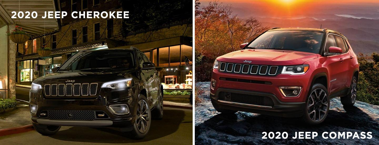 Picture of the Jeep Cherokee and Jeep Compass