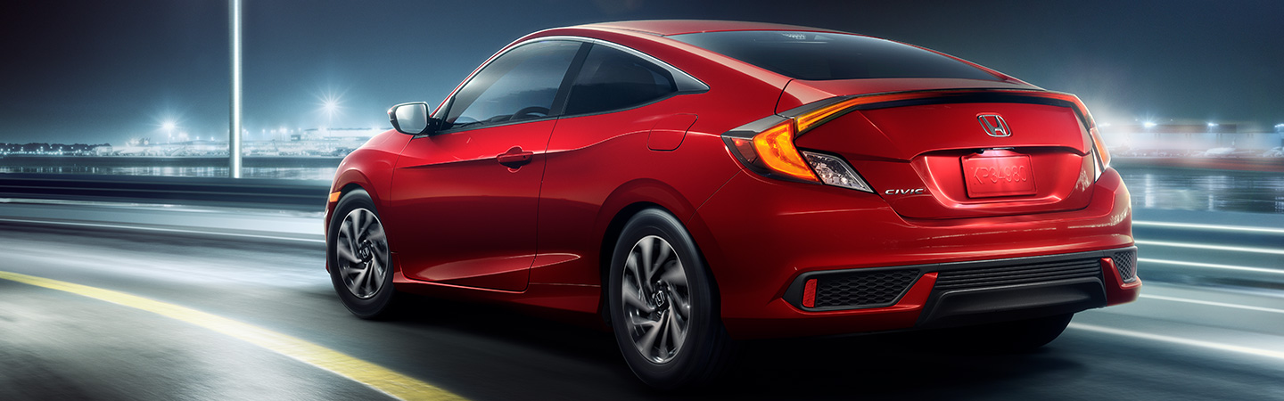 Tail end of the 2019 Honda Civic in motion, available at Honda of Gainesville