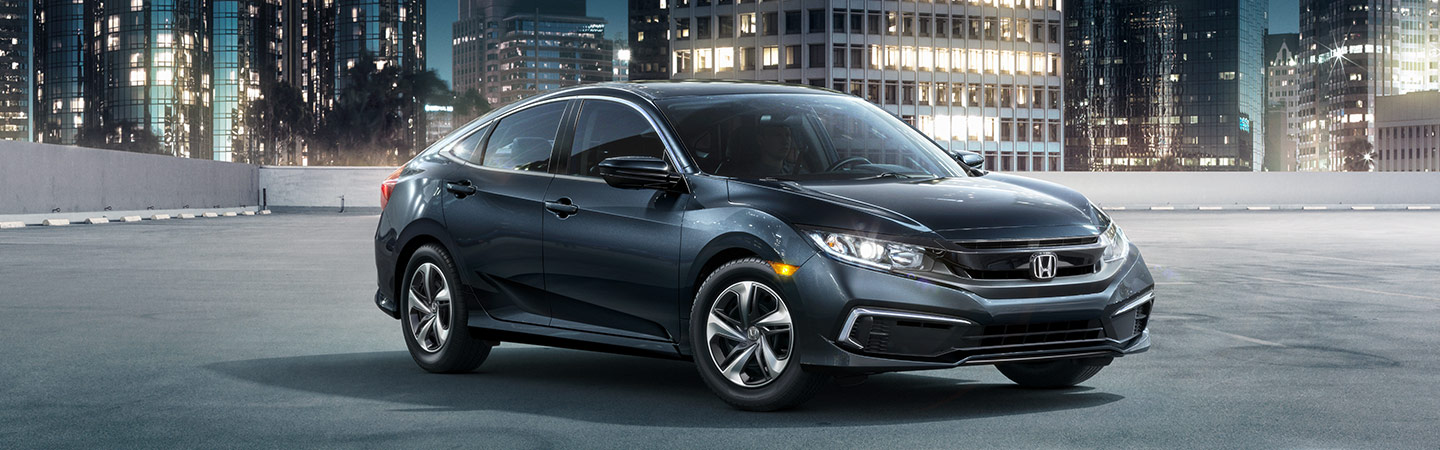 Front of the 2019 Honda Civic parked near our Honda dealership