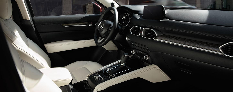 Interior of the 2018 Mazda CX-5 available at Naples Mazda near Bonita Springs
