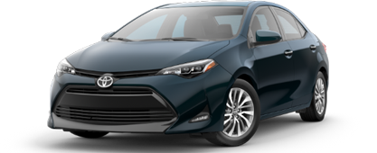 The 2019 Corolla XLE at our Toyota dealership in Lake City, FL.