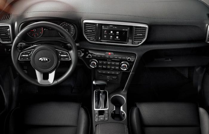 Top view of the interior of the 2021 Sportage
