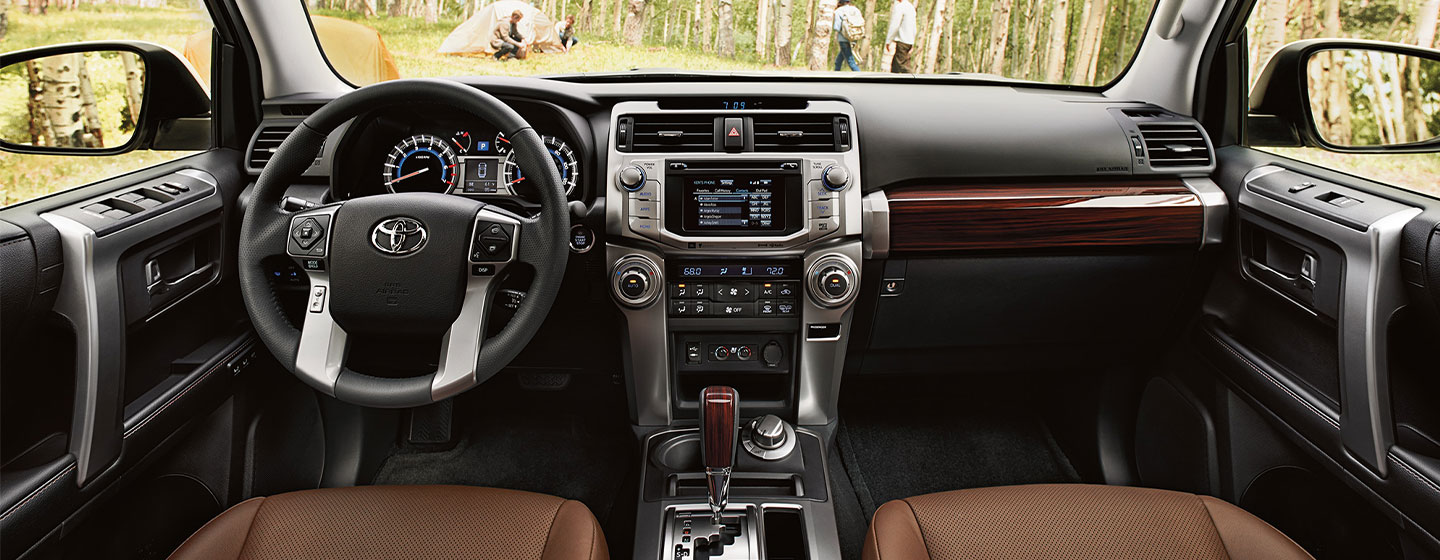 Safety features and interior of the 2019 Toyota 4Runner - available at our Toyota dealership near Charlotte, NC.