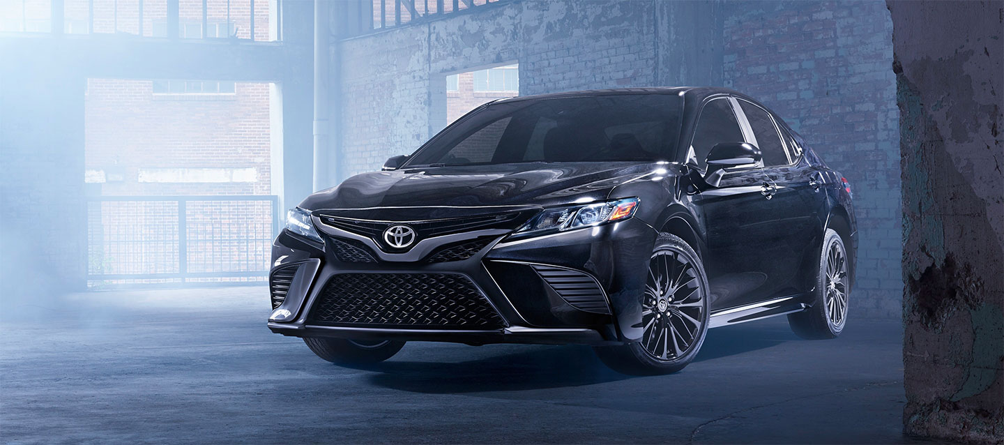Exterior of the 2019 Toyota Camry Nightshade Edition at World Toyota in Atlanta, GA.
