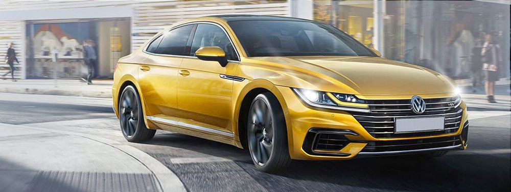 Exterior of the 2019 Volkswagen Arteon at Vista Volkswagen Pompano Beach near Fort Lauderdale, FL
