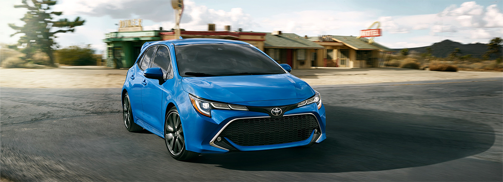 Exterior of the 2019 Toyota Corolla Hatchback - available at our Toyota dealership in Columbus, GA.