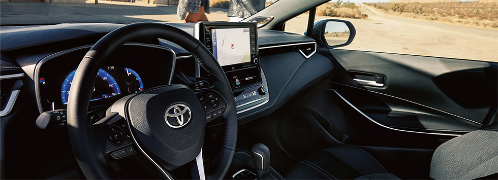 Safety features and interior of the 2019 Toyota Corolla Hatchback - available at our Toyota Dealership near Columbus, GA