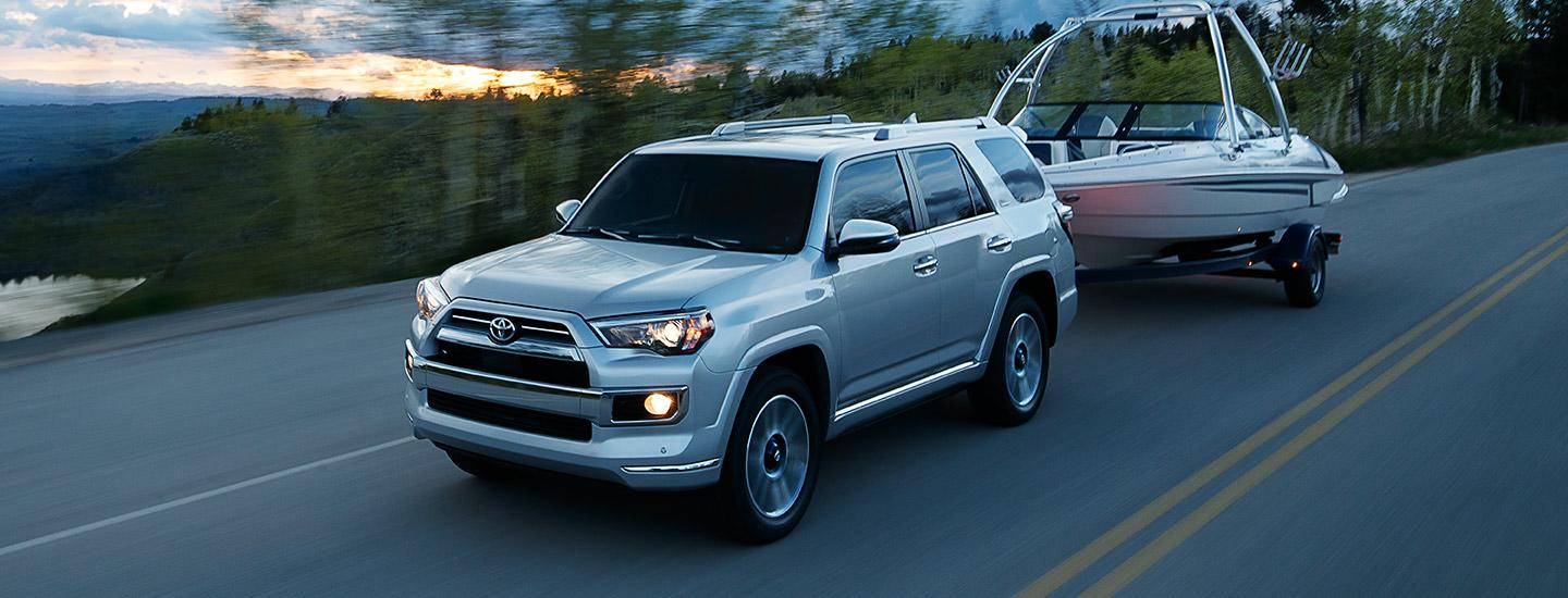 2020 Toyota 4Runner towing a boat
