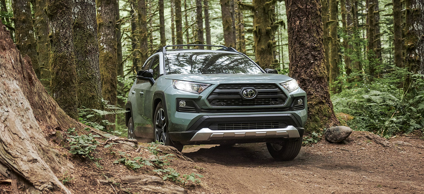 The 2019 Toyota RAV4 - available at our Toyota dealership near Atlanta.