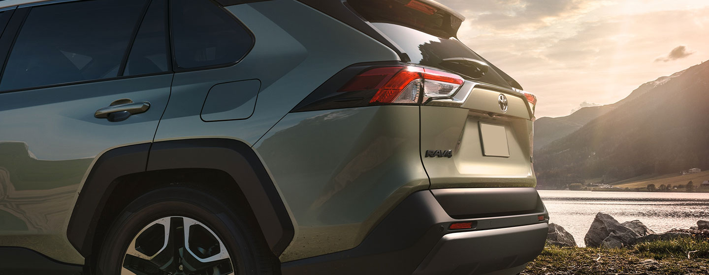 Exterior image of the 2019 Toyota RAV4 available at our Toyota Dealership near Sandy Springs, GA.