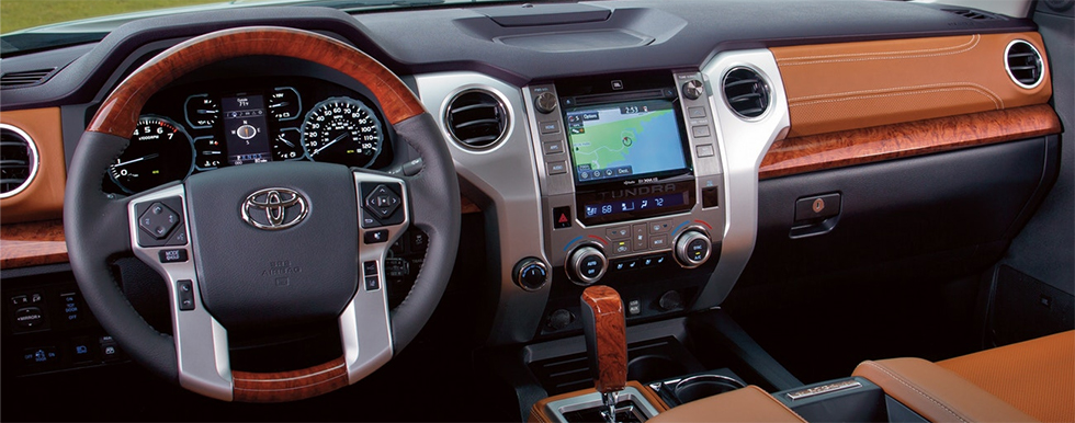 Safety features and interior of the 2019 Toyota Tundra - available at our Toyota dealership in Columbus, GA