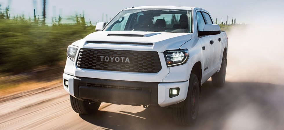 Toyota Tundra in motion